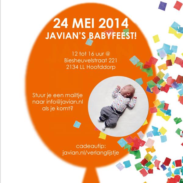 uitnodiging babyfeest